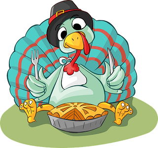 Thanksgiving Day turkey cartoon  image