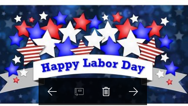 Labor Day blue image with lots of color image