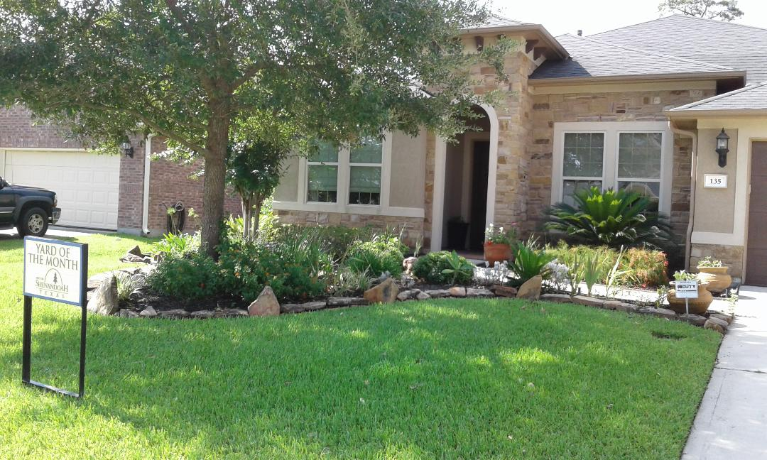 Yard of the Month for August 2019 image with yard sign