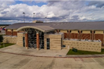 Daytime exterior view of Conroe ISD Natatorium
